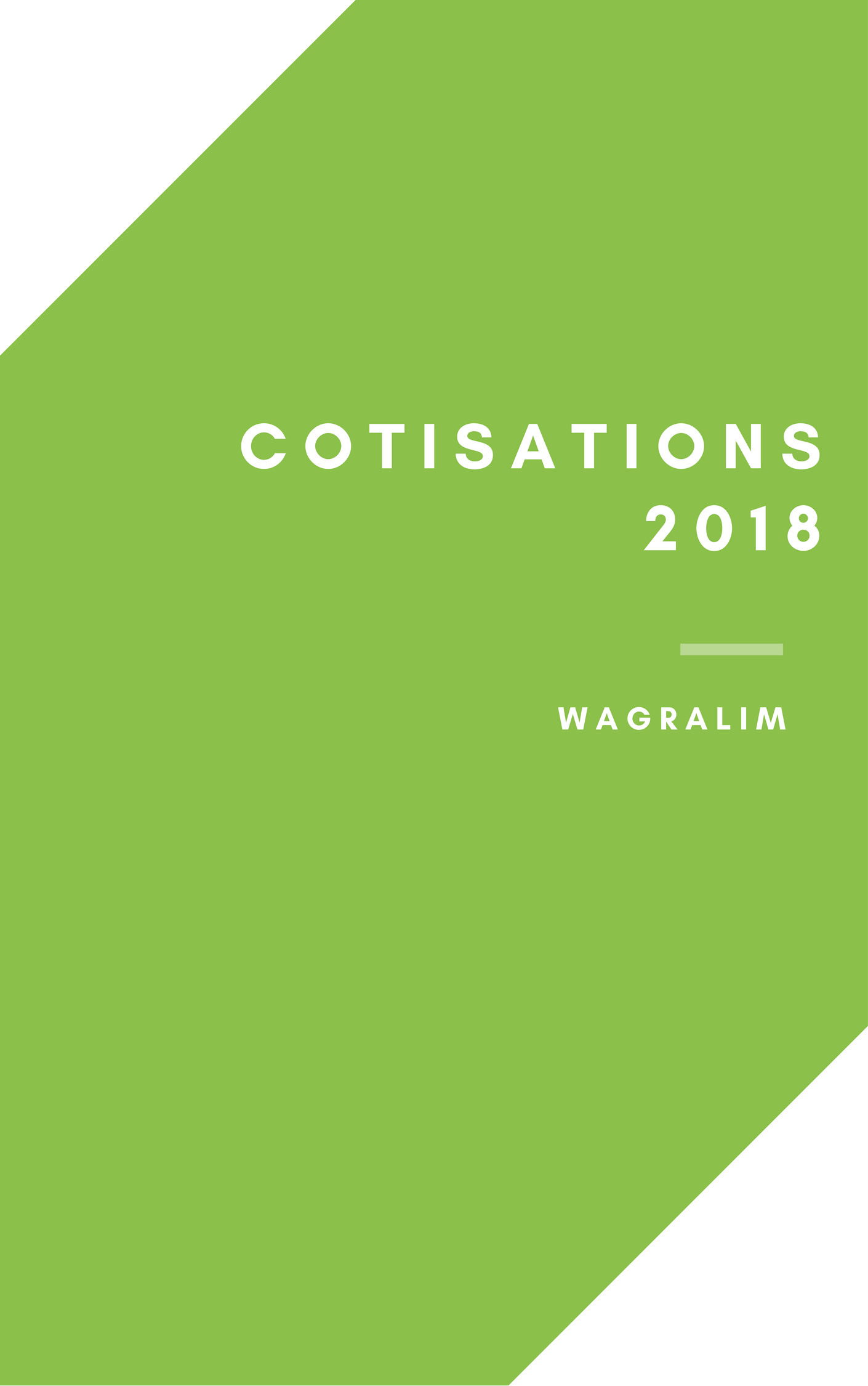 Grille des cotisations Wagralim 2018